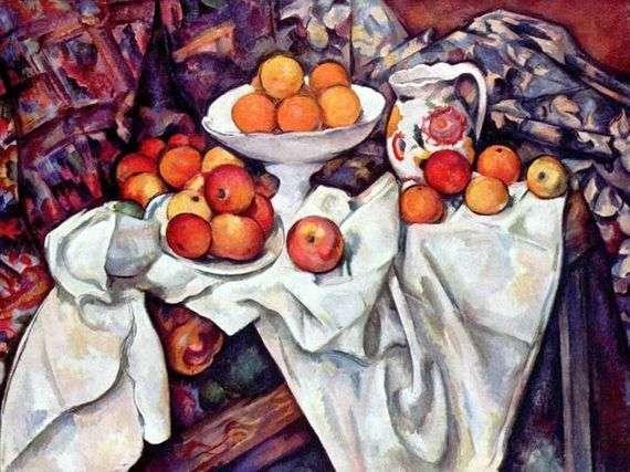 Описание картины Поля Сезанна «Натюрморт с апельсинами»
