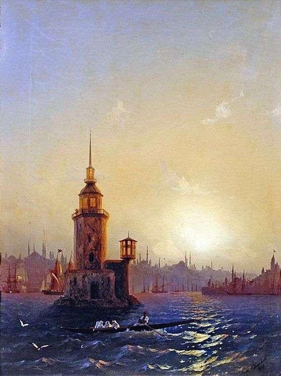 Описание картины Ивана Айвазовского «Вид Леандровой башни»