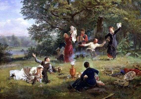 Описание картины Алексея Корзухина «Воскресный день»