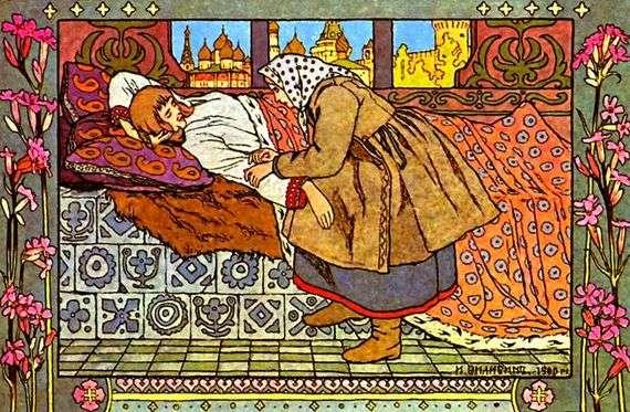 Иллюстрация к сказке «Перышко Финиста Ясна-Сокола» работы Ивана Билибина