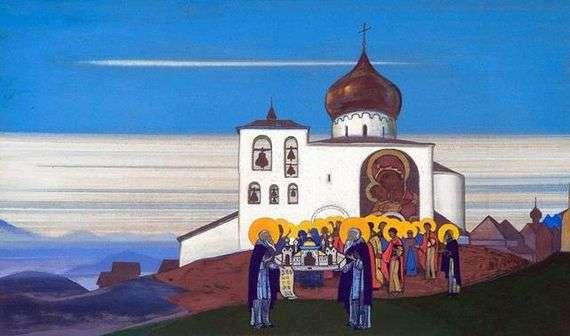 Описание картины Николая Рериха «Звенигород»