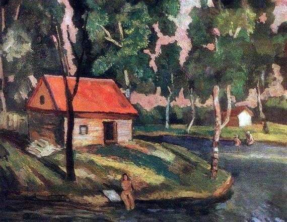 Описание картины Николая Крымова «Летом на даче»