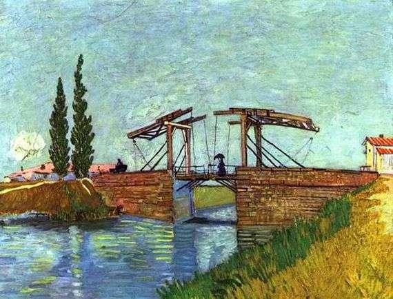 Описание картины Винсента Ван Гога «Мост Англуа в Арле»