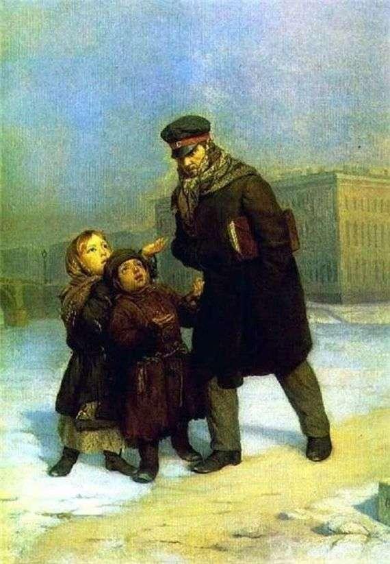 Описание картины Фирса Журавлева «Дети нищие»