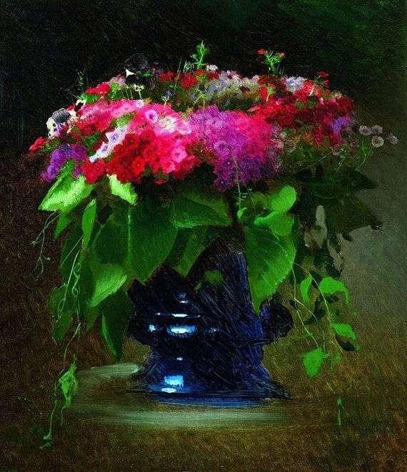 Описание картины Ивана Крамского «Букет цветов»