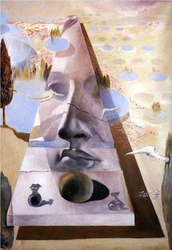 Описание картины Сальвадора Дали «Явление лица Афродиты Книдской на фоне пейзажа»