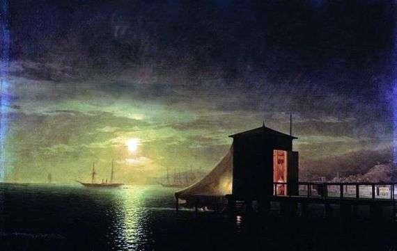 Описание картины Ивана Айвазовского «Лунная ночь. Купальня в Феодосии»