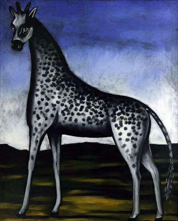 Описание картины Нико Пиросмани «Жираф»