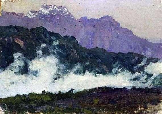 Описание картины Исаака Левитана «Альпы»