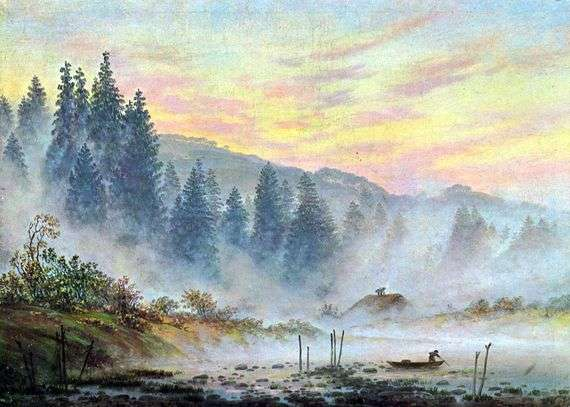 Описание картины Каспара Фридриха «Утро»