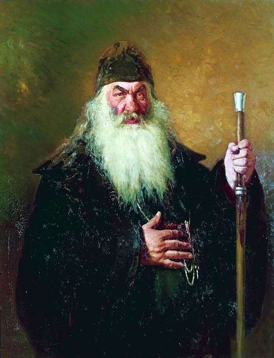 Описание картины Ильи Репина «Протодиакон»