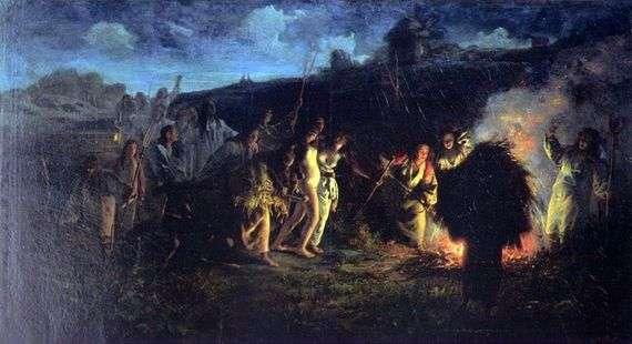 Описание картины Григория Мясоедова «Опахивание»