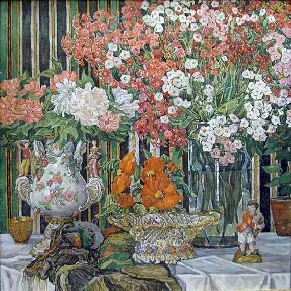Описание картины Александра Головина «Натюрморт с флоксами»