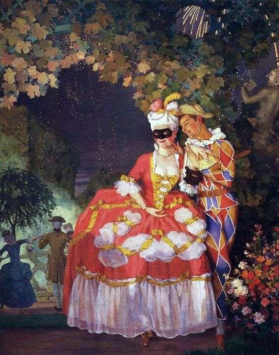 Описание картины Константина Сомова «Арлекин и дама»