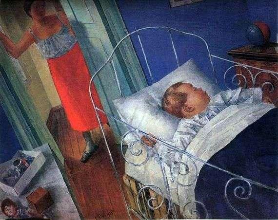 Описание картины Кузьмы Петрова Водкина «В детской»
