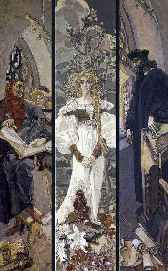 Описание картины Михаила Врубеля «Фауст»
