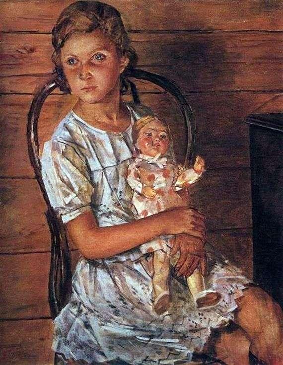 Описание картины Кузьмы Петрова Водкина «Девочка с куклой»