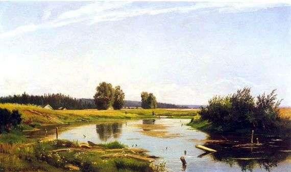 Описание картины Ивана Шишкина «Пейзаж с озером»