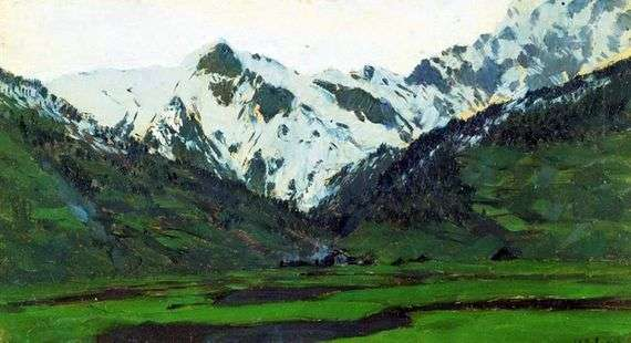 Описание картины Исаака Левитана «В Альпах весной»