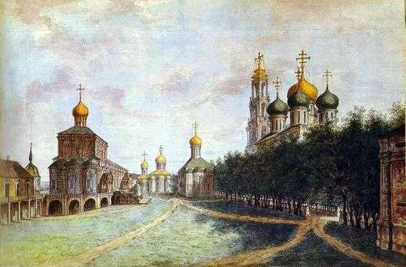 Описание картины Федора Алексеева «Троице Сергиева лавра»