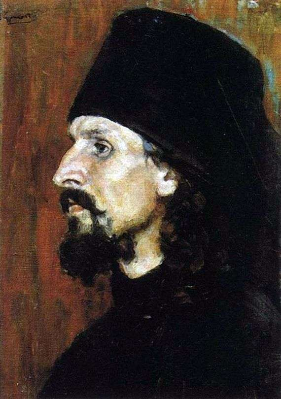 Описание картины Василия Сурикова «Монах»