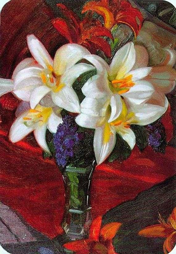 Описание картины Николая Рериха «Лилии»