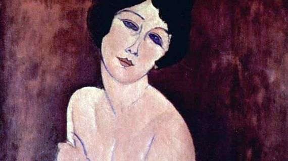 картина голая девушка на диване