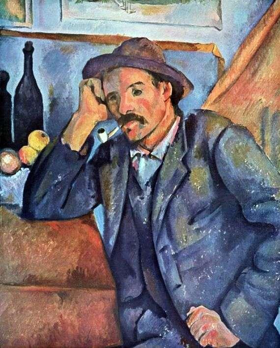 Описание картины Поля Сезанна «Мужчина с трубкой»