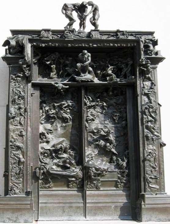 Описание скульптурной композиции Франсуа Огюста Родена «Врата ада»