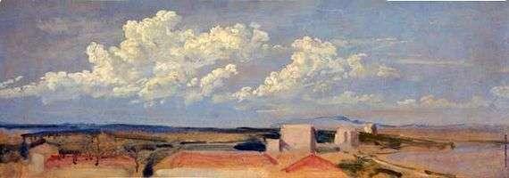 Описание картины Александра Иванова «Облака над побережьем»