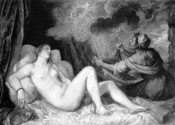 Описание картины Тициана Вечеллио «Даная»