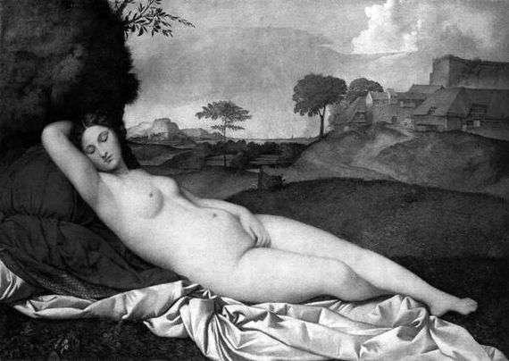 Описание картины Джорджоне «Спящая Венера»