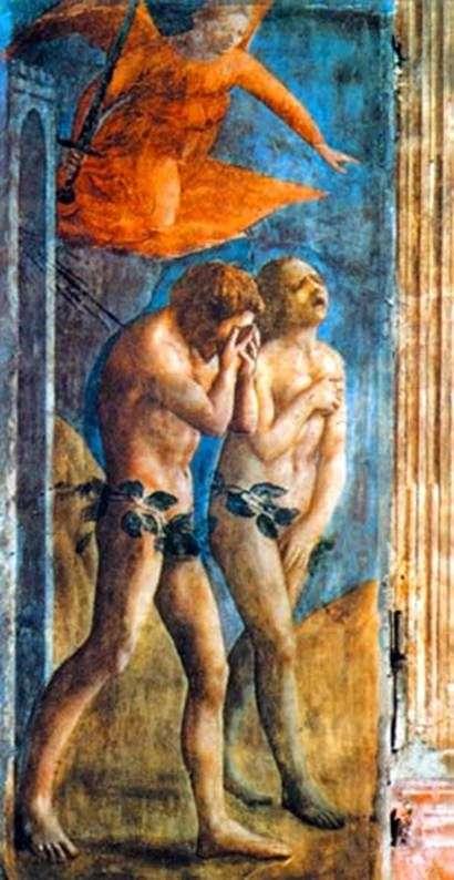 Описание картины Мазаччо «Изгнание из Рая»