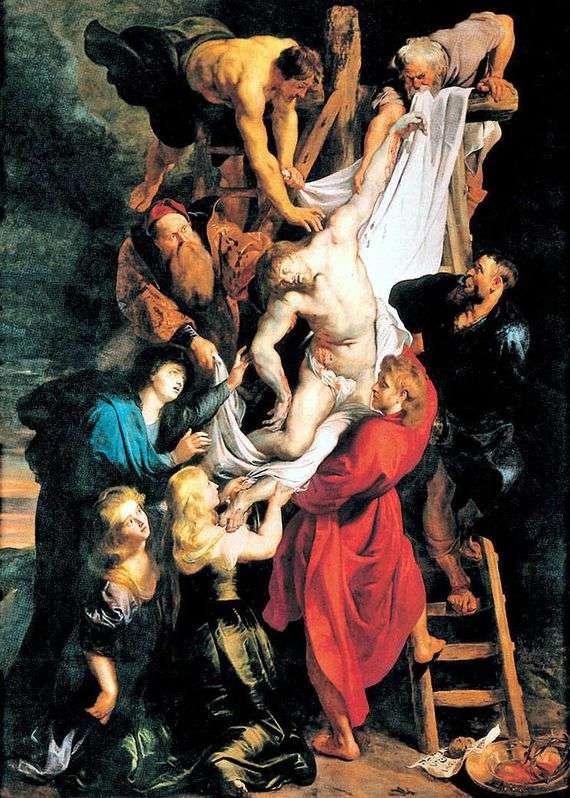 Описание картины Питера Рубенса «Снятие с креста»