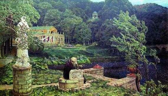 Описание картины Аполлинария Васнецова «Шум старого парка»