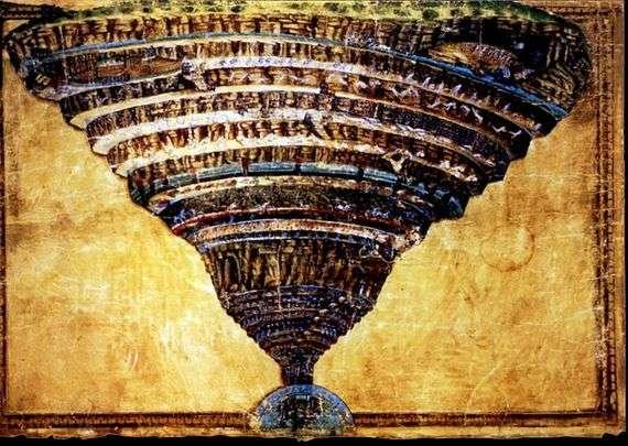 Описание картины Сандро Боттичелли «Ад»