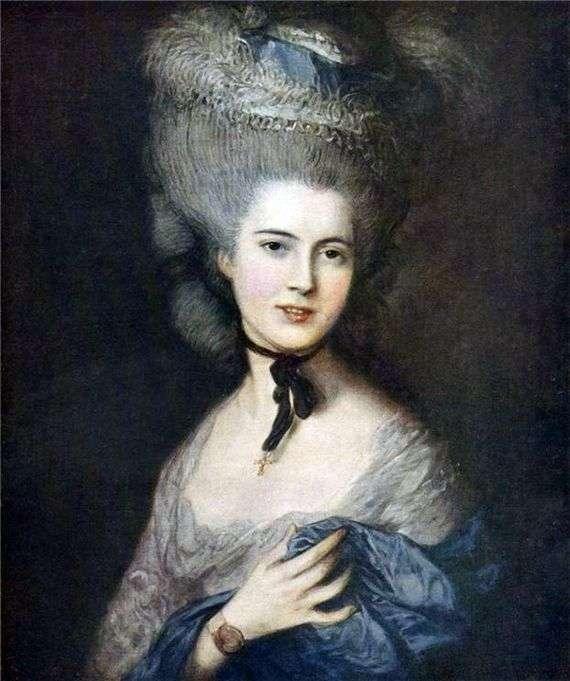 Описание картины Томаса Гейнсборо «Дама в голубом»