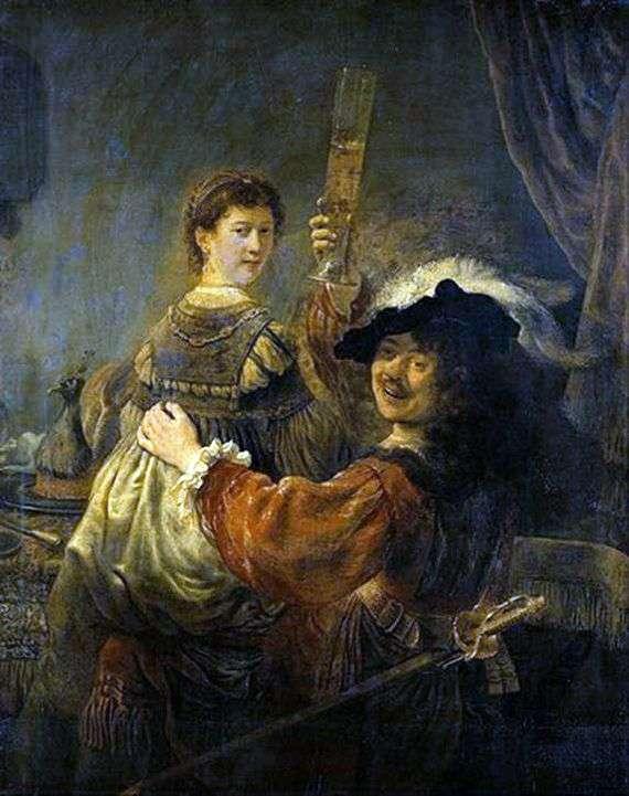 Описание картины Рембрандта Харменса ван Рейна «Блудный сын в таверне»
