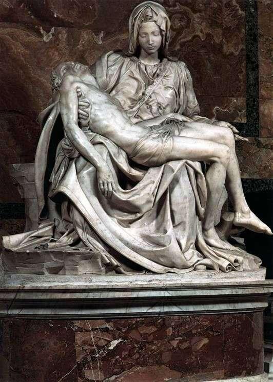 Описание скульптуры Микеланджело Буанарроти «Пьета»