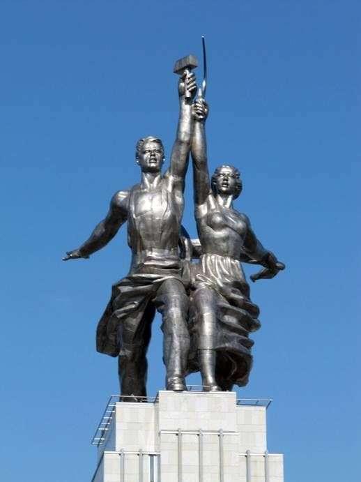 Описание монумента Веры Мухиной «Рабочий и колхозница»