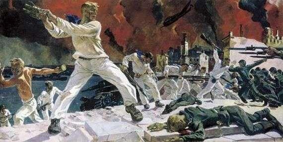 Описание картины Александра Дейнека «Оборона Севастополя»