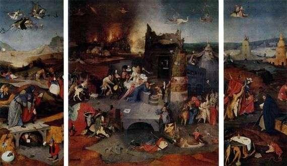 Описание картины Иеронима Босха «Искушение святого Антония»