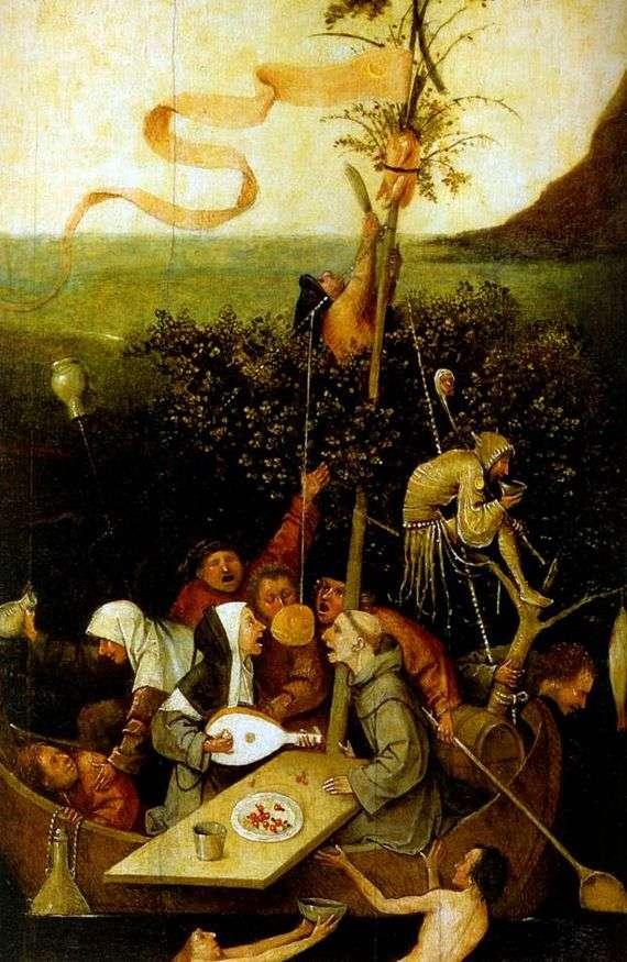 Описание картины Иеронима Босха «Корабль дураков»
