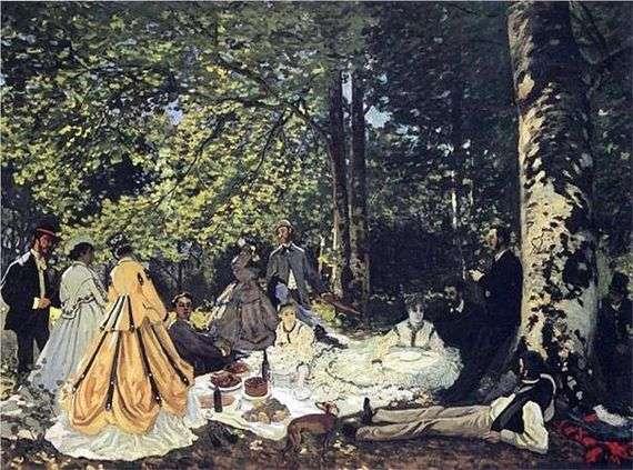Описание картины Клода Моне «Завтрак на траве»