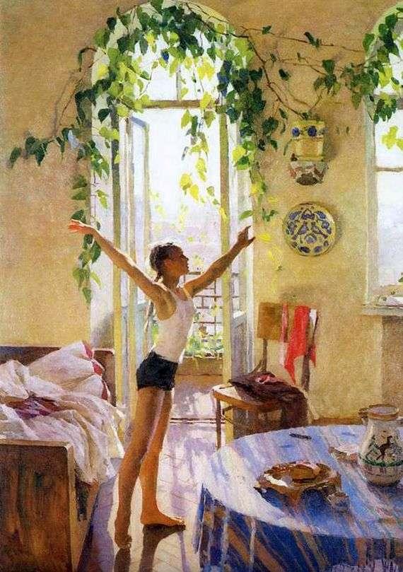 Описание картины Татьяны Яблонской «Утро»