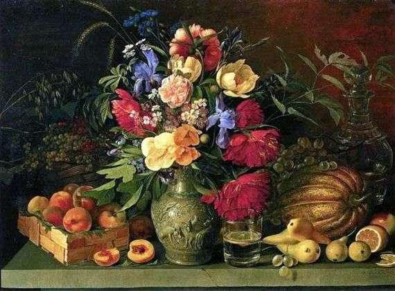 Описание картины Ивана Хруцкого «Цветы и плоды»