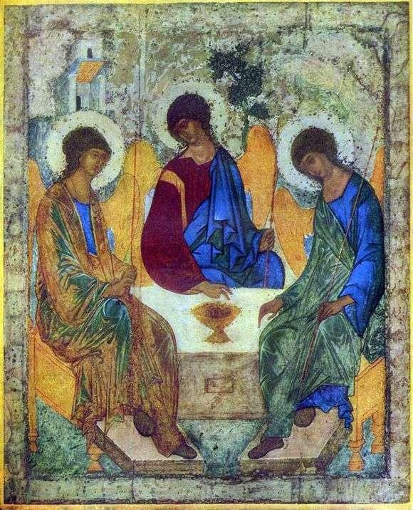 Описание иконы Андрея Рублева «Троица»