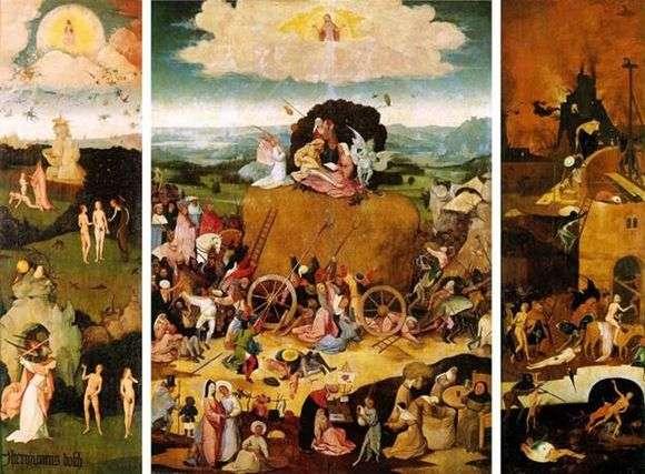 Описание картины Иеронима Босха «Воз сена»