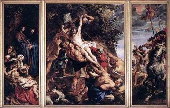 Описание картины Питера Рубенса «Воздвижения Креста»