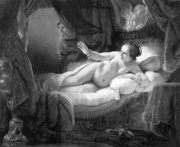 Описание картины Рембрандта Харменса ван Рейна «Даная»